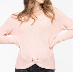Double V Knotted Sweater